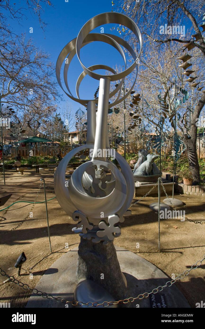 Kinetic wind sculptures El Prado Gallery Tlaquepaque Arts and Crafts Village Sedona Arizona - Stock Image