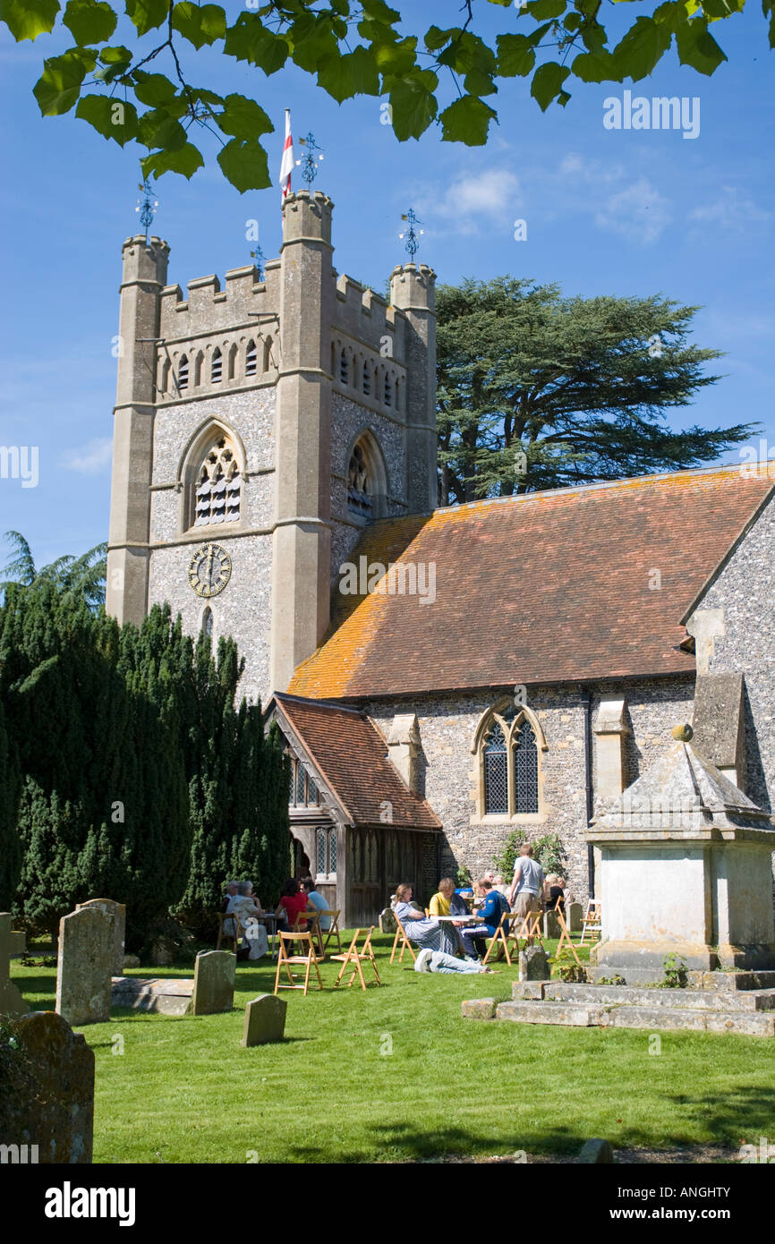 St Mary the Virgin Hambleden Buckinghamshire - Stock Image