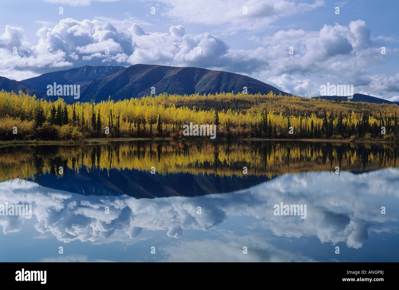 Pelly Mountains along Robert Campbell Highway, Yukon Territory, Canada. - Stock Image
