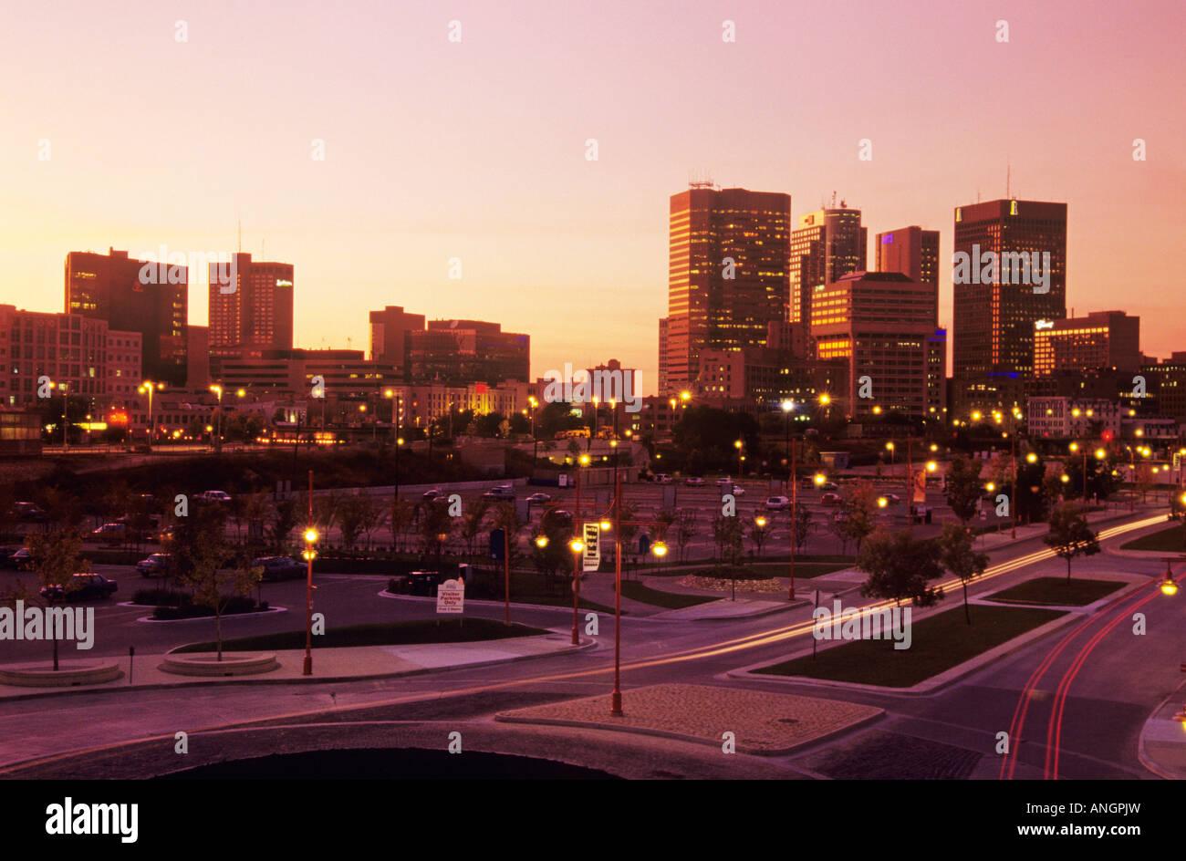 Winnipeg skyline, Manitoba, Canada. - Stock Image