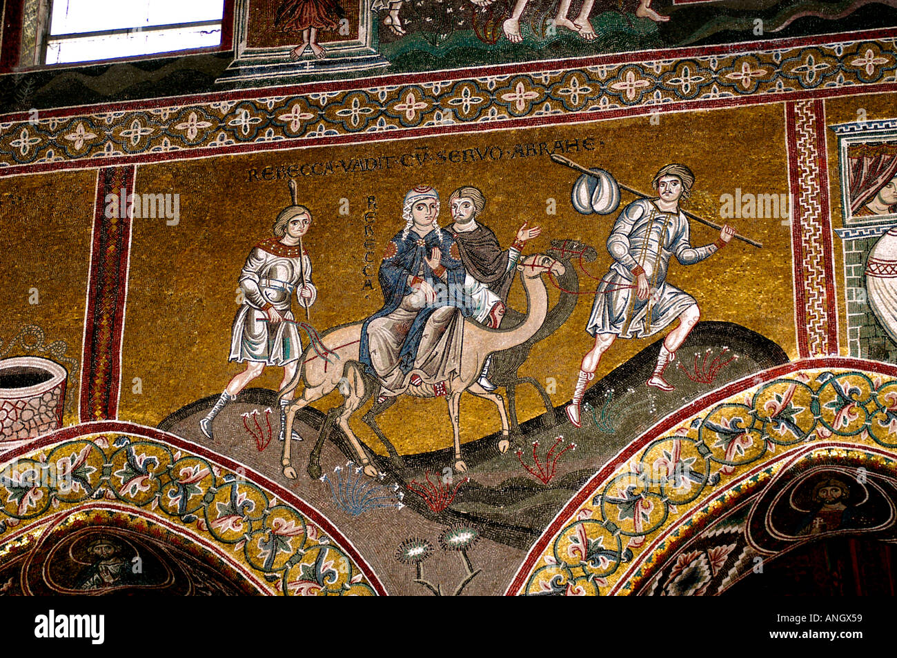 Cathedral Monreale Byzantine Mosaics Sicily Church Stock Photo
