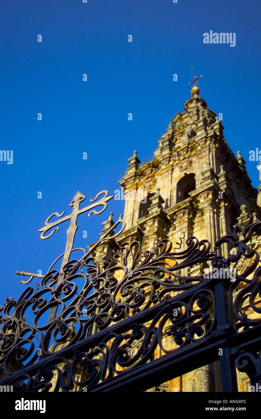 Cathedral de Santiago de Compostela, Santiago de Compostela, Galicia, Spain Stock Photo