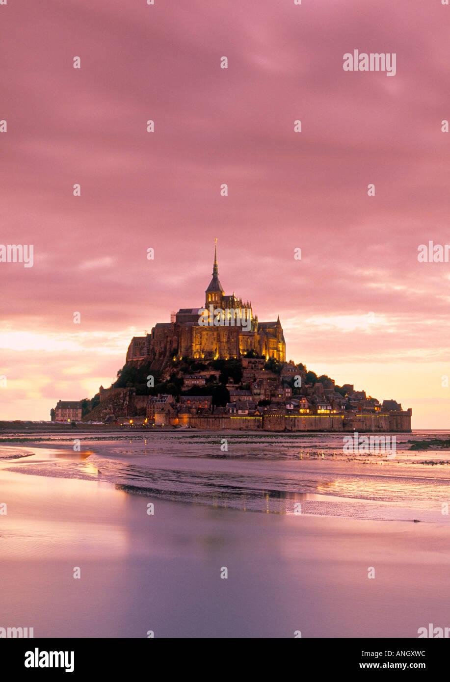 Mont St. Michel, Manche, Normandy, France Stock Photo