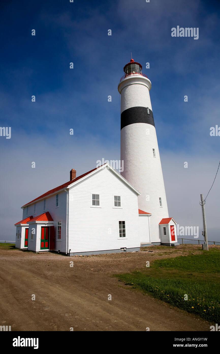 Point Amour Lighthouse Provincial Historic Site, Labrador, Newfoundland and Labrador, Canada. - Stock Image