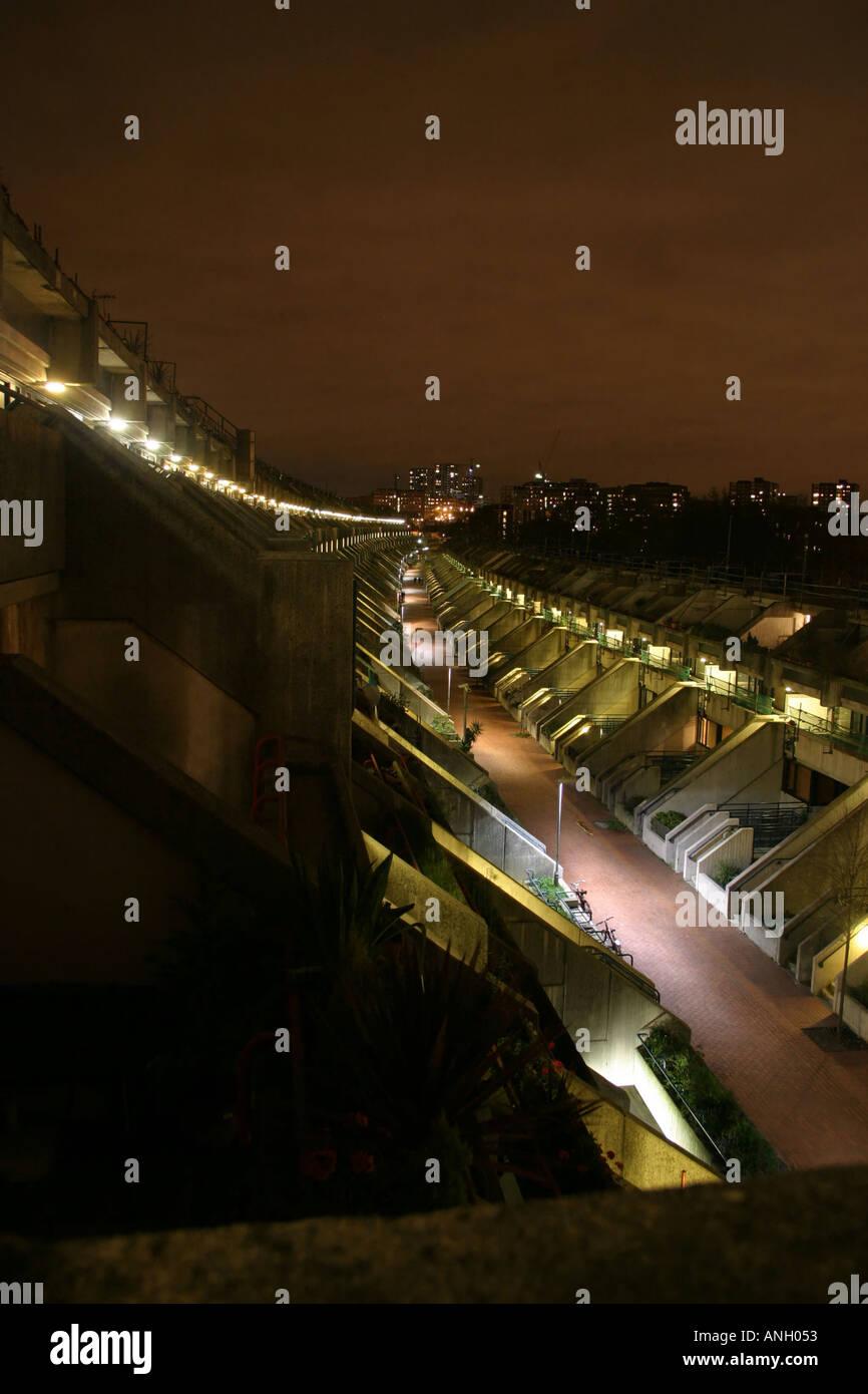 Camden Council Housing Estate At Night