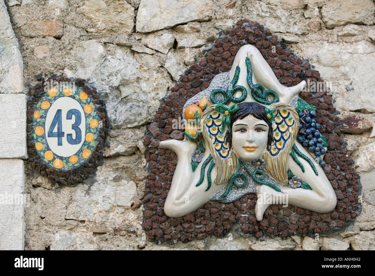 Ceramic Trinakria Triangular Symbol Of Sicily Taormina Sicily
