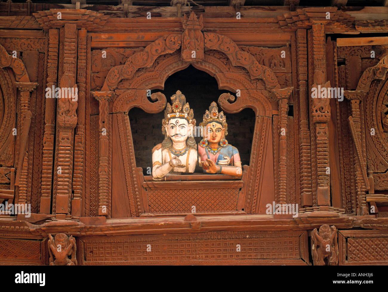 Temple, Katmandu, Nepal - Stock Image