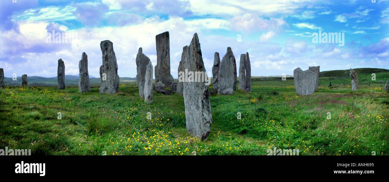 Callanish Stornoway megaliths outer Hebrides Lewiss Scotland UK Europe Stock Photo
