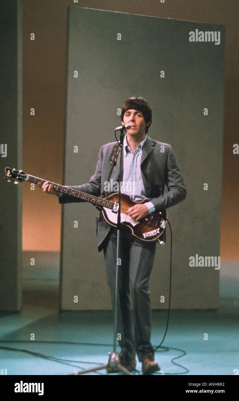 BEATLES Paul McCartney in 1964 - Stock Image