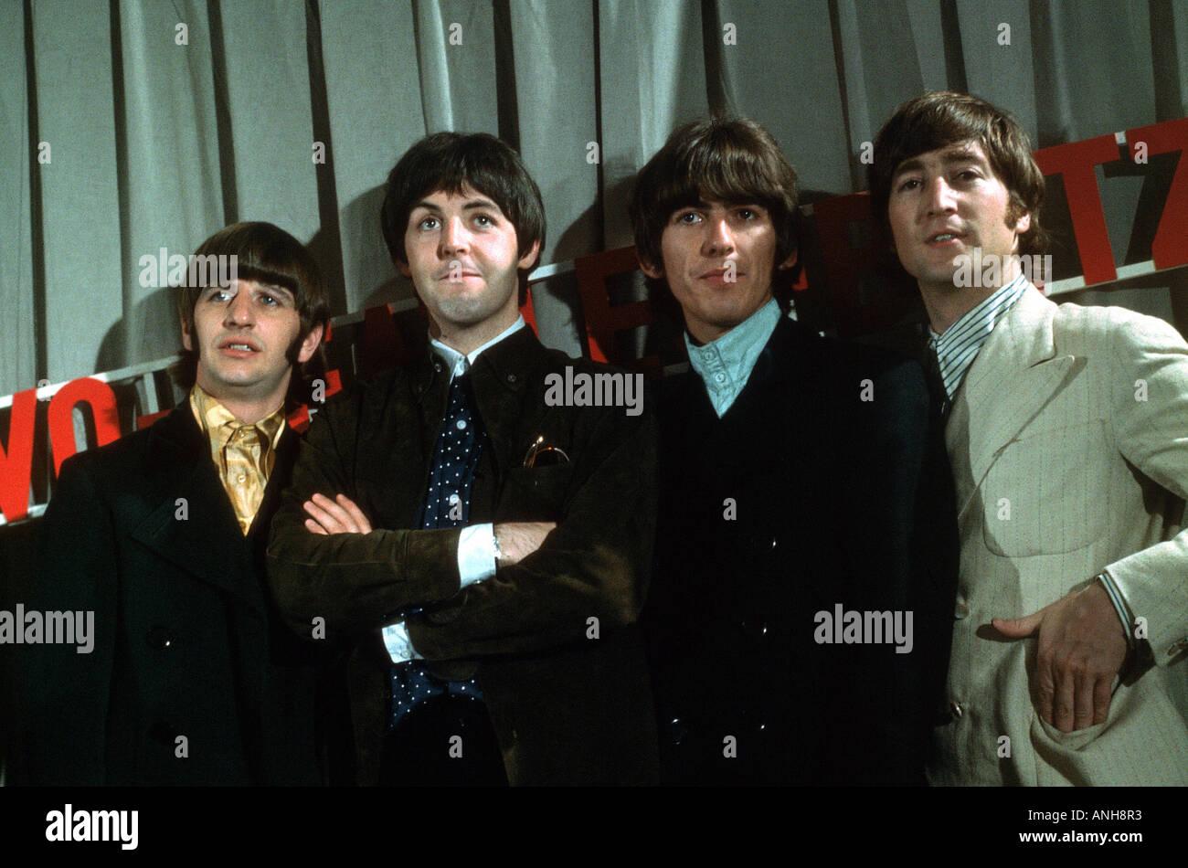 BEATLES In 1965 From Left Ringo Starr Paul McCartney George Harrison And John Lennon