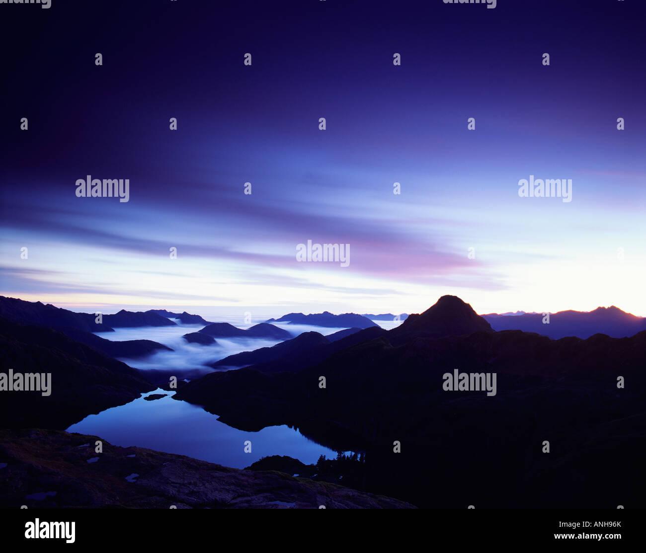 Takakia Lake Moresby Island, Haida Gwaii, British Columbia, Canada. - Stock Image