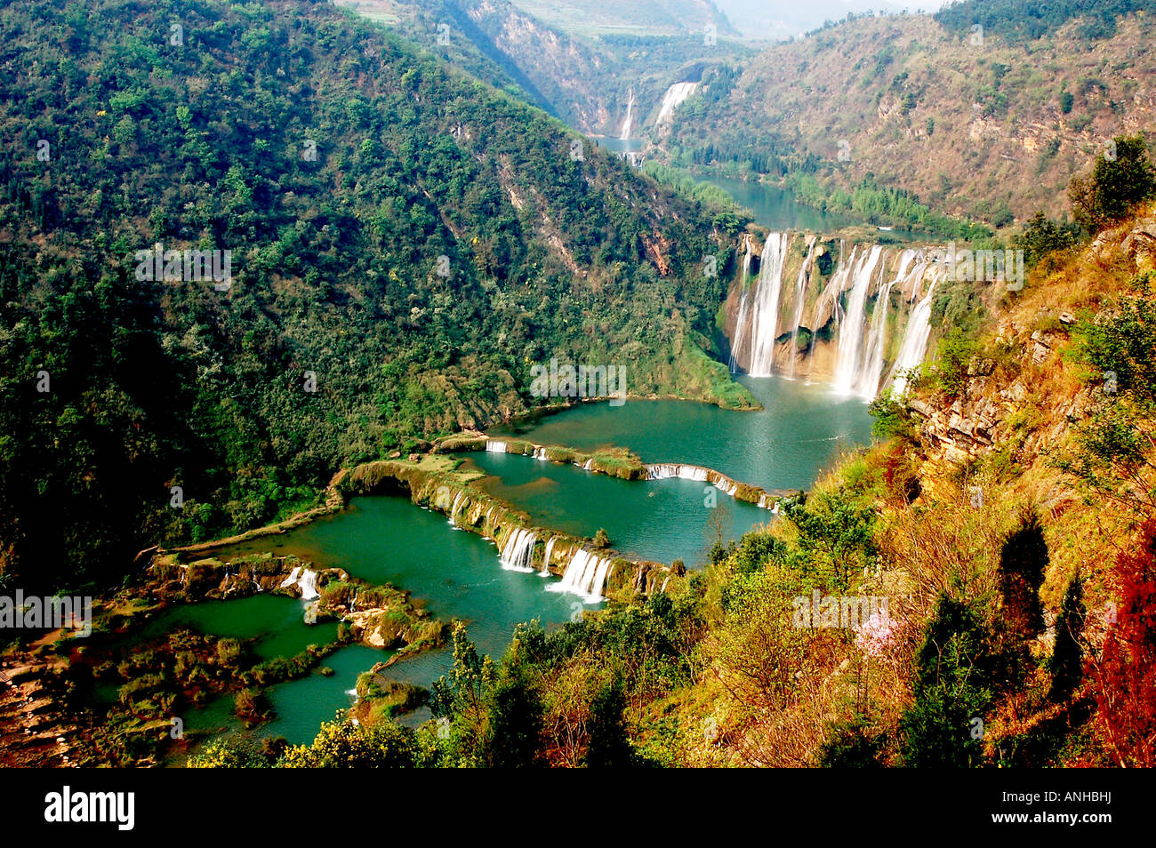 waterfall in Yunnan china Stock Photo: 15530237