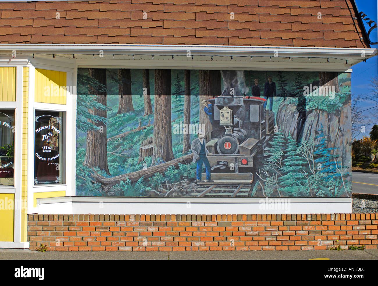 Chemainus Town Outdoor Wall Murals Vancouver Island BC British Stock