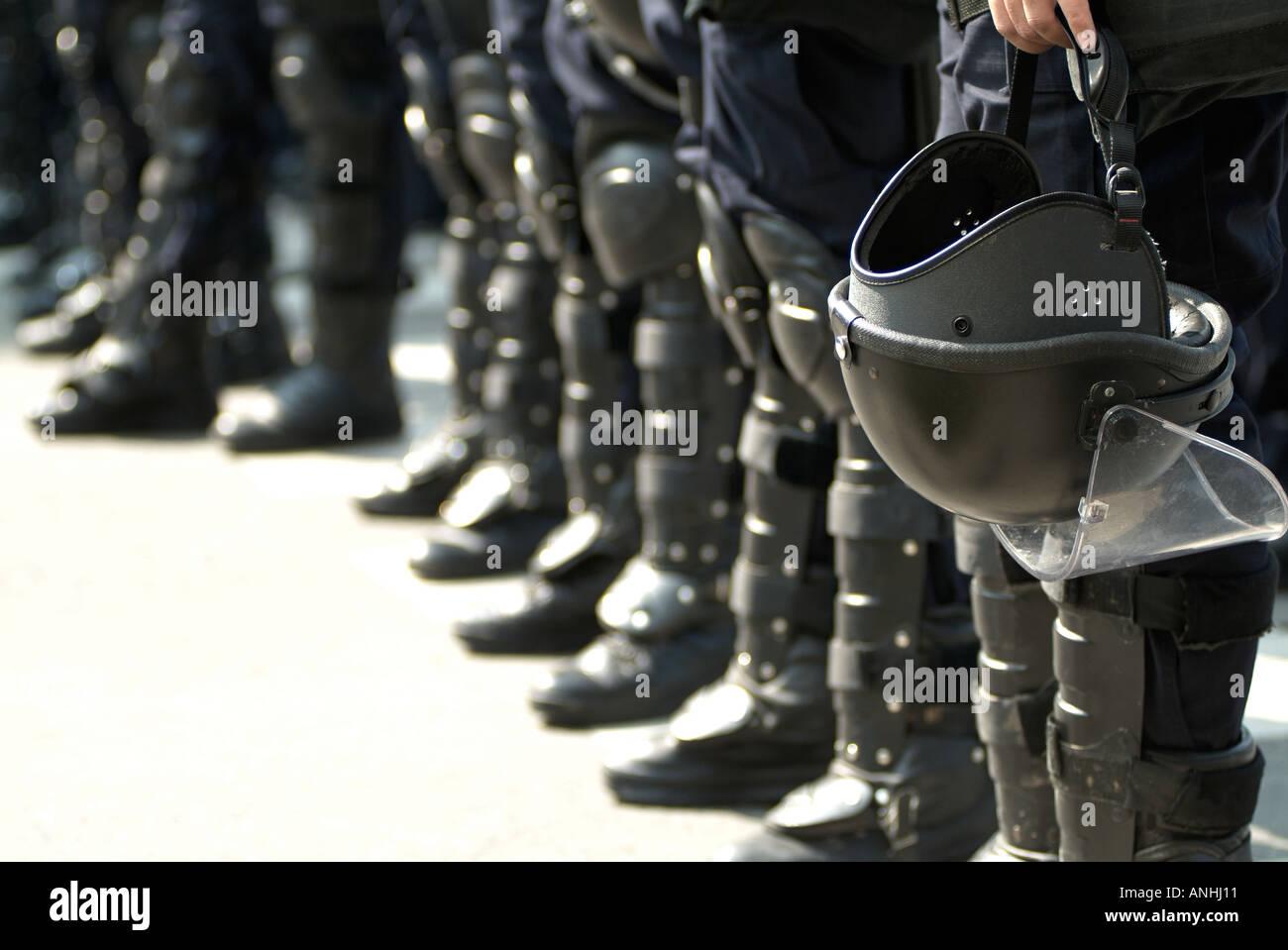 Riot Police - Stock Image