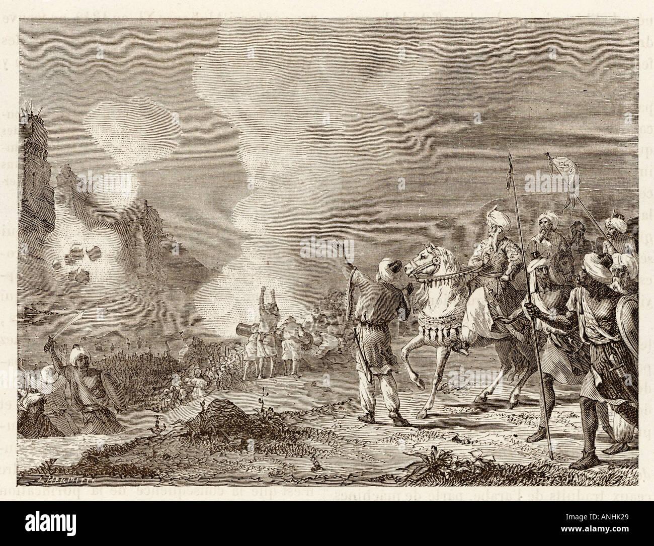 Abu Yusuf Using Gunpowder  Morocco - Stock Image