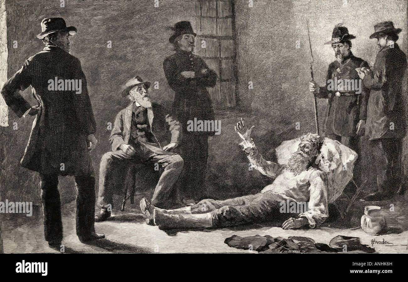 John Brown After his Capture. John Brown, 1800 - 1859. White American abolitionist. Stock Photo