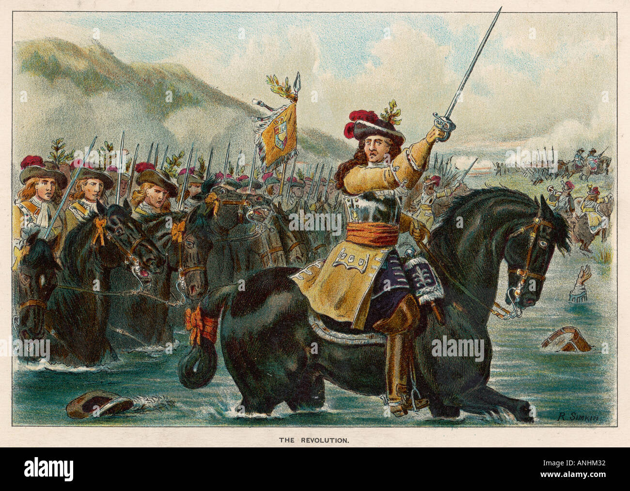 Battle Of The Boyne 1690 - Stock Image