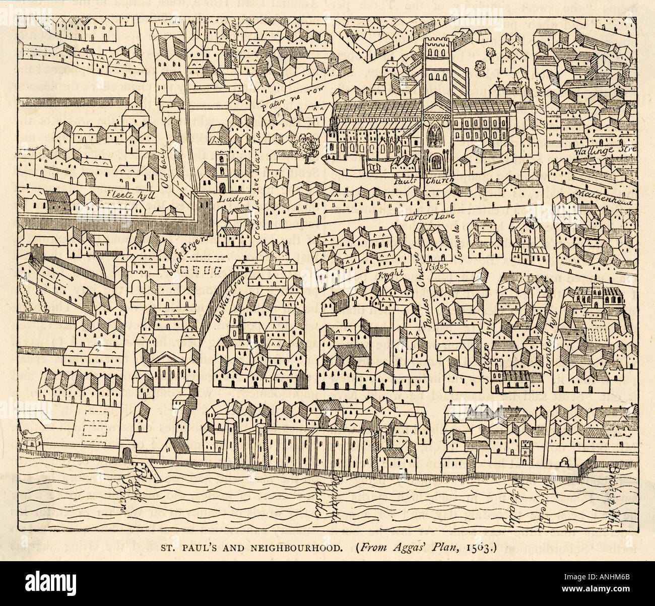 Map St Pauls And Area Stock