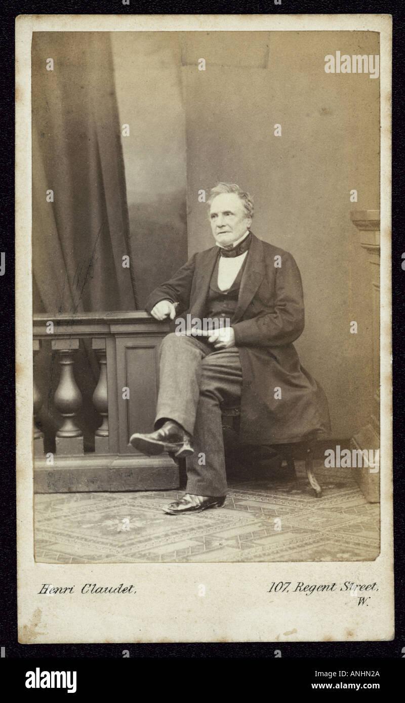 Charles Babbage - Stock Image