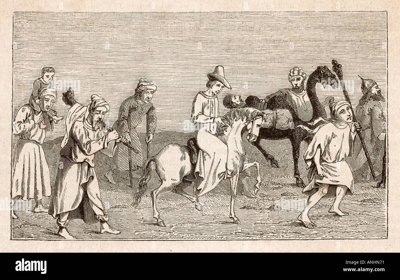 Pilgrims To Holy Land - Stock Image