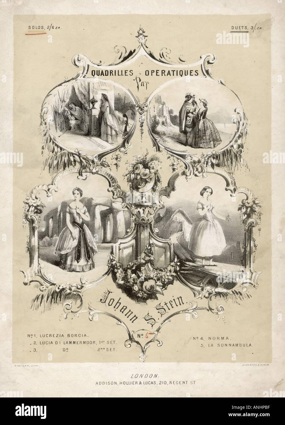 Opera Quadrilles 19c - Stock Image