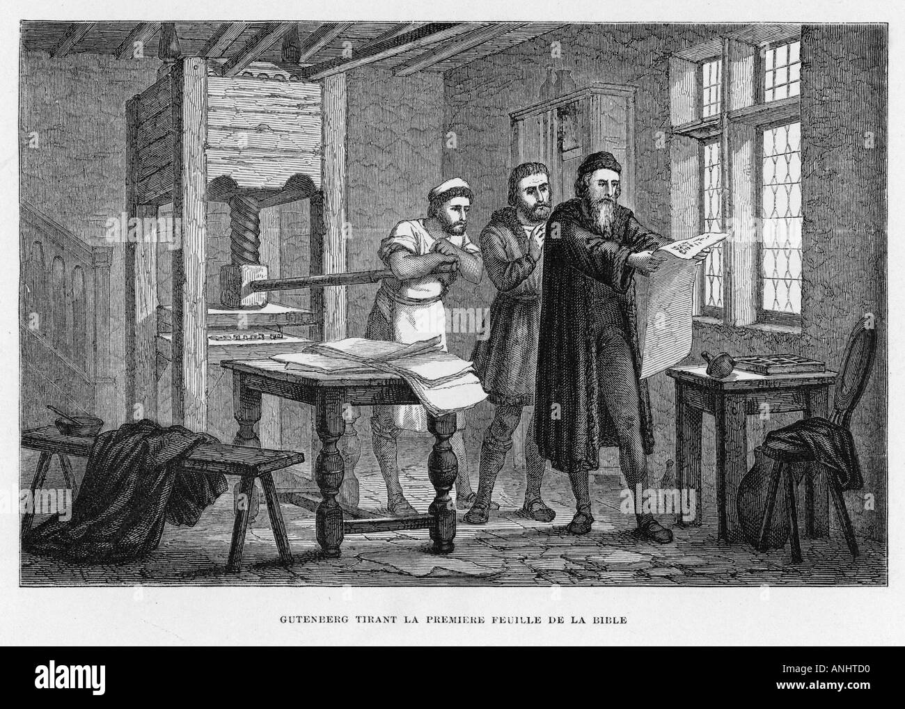 gutenberg printing press stock photo 5072079 alamy