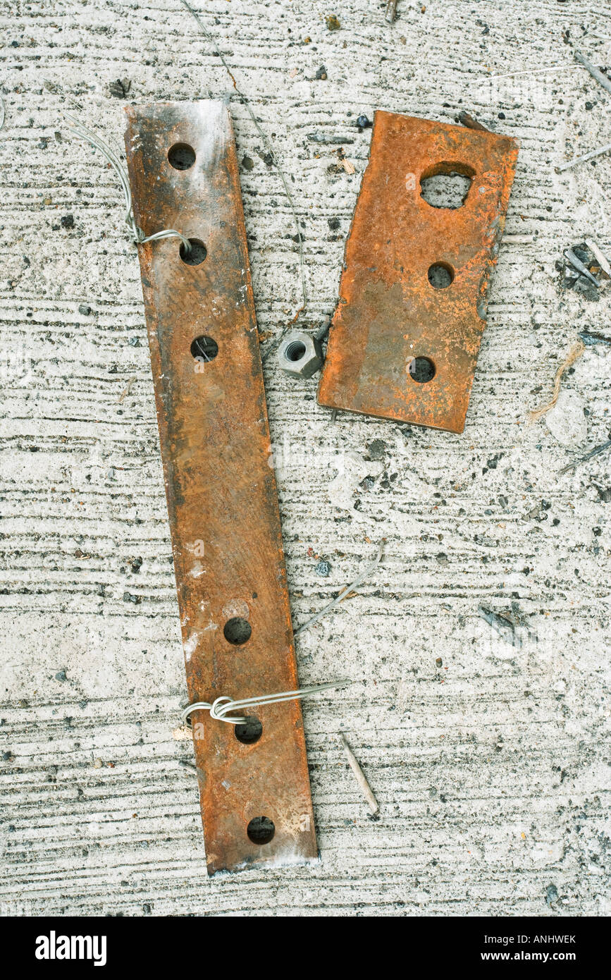 Pieces of rusty metal - Stock Image