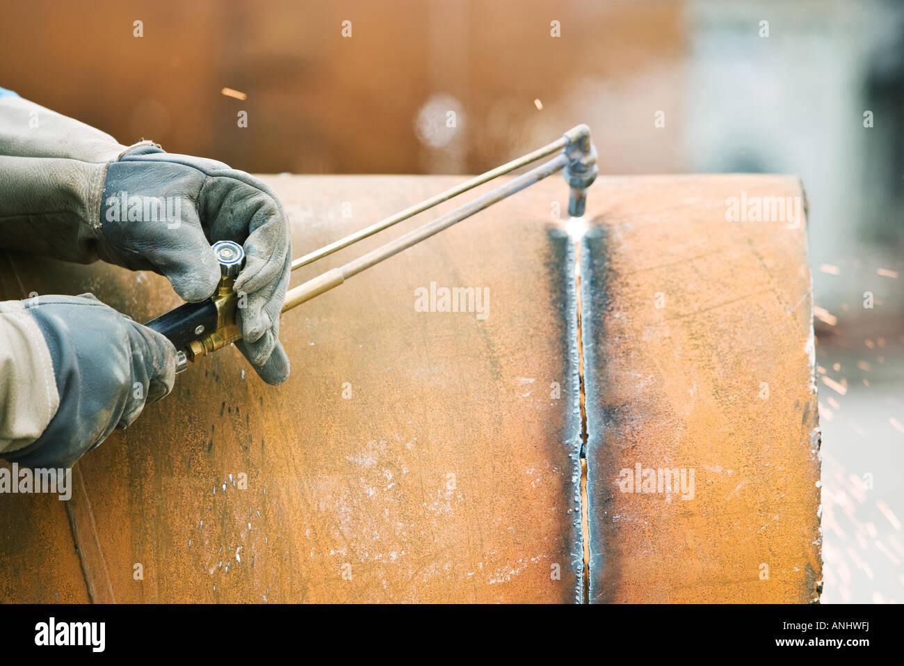 Welder - Stock Image