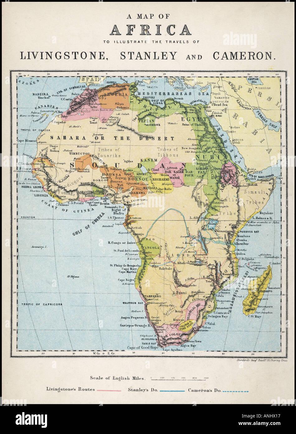 Cameron Map Africa Stock Photo: 5072406   Alamy