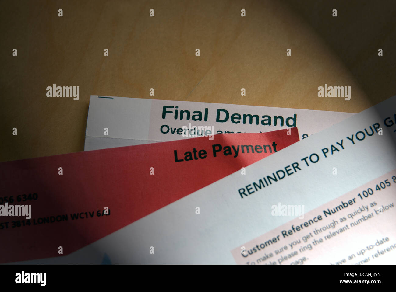 Late Payment Reminders - Stock Image