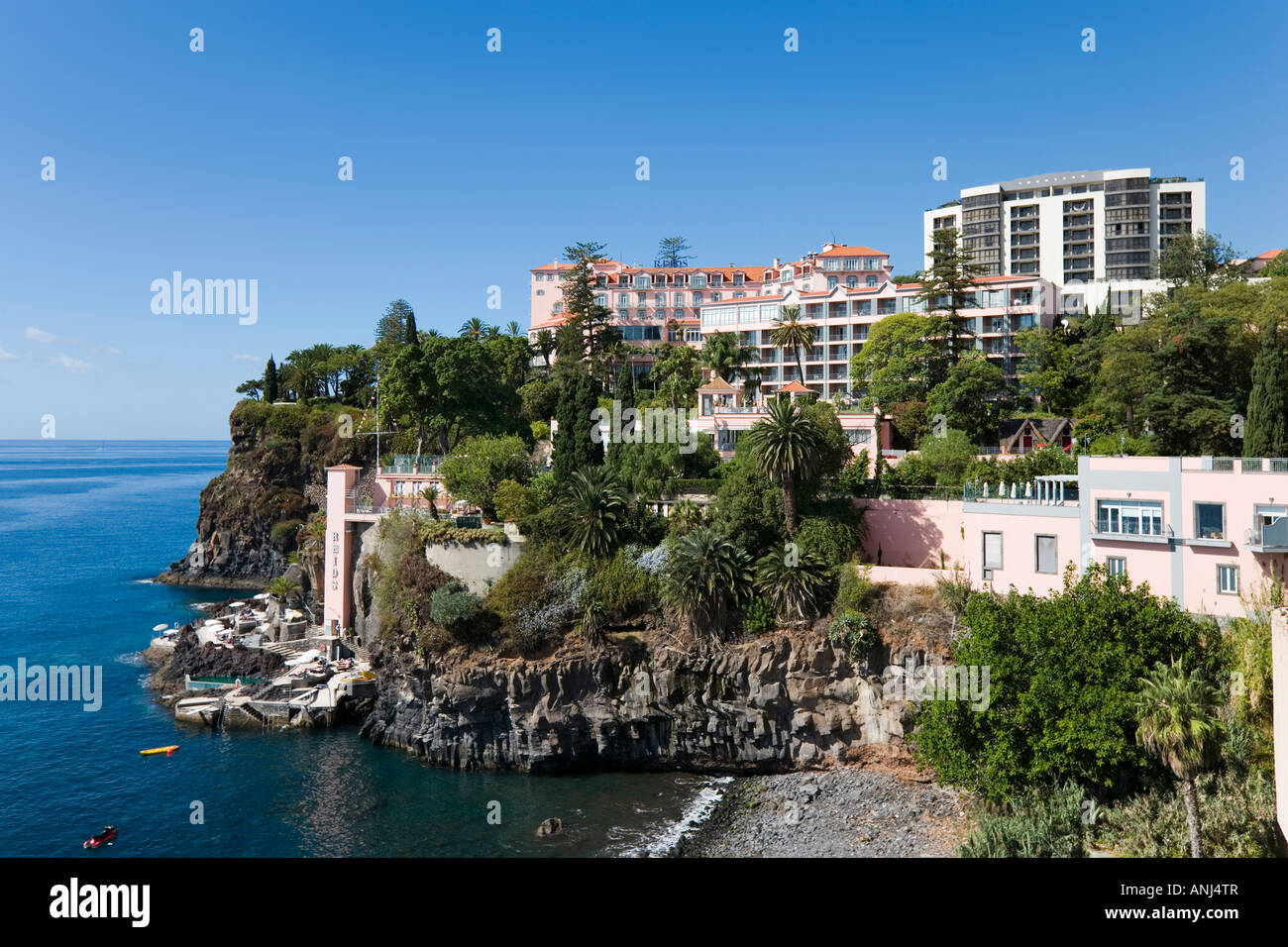 Reids Palace Hotel from Royal Savoy, Funchal, Madeira, Portugal - Stock Image