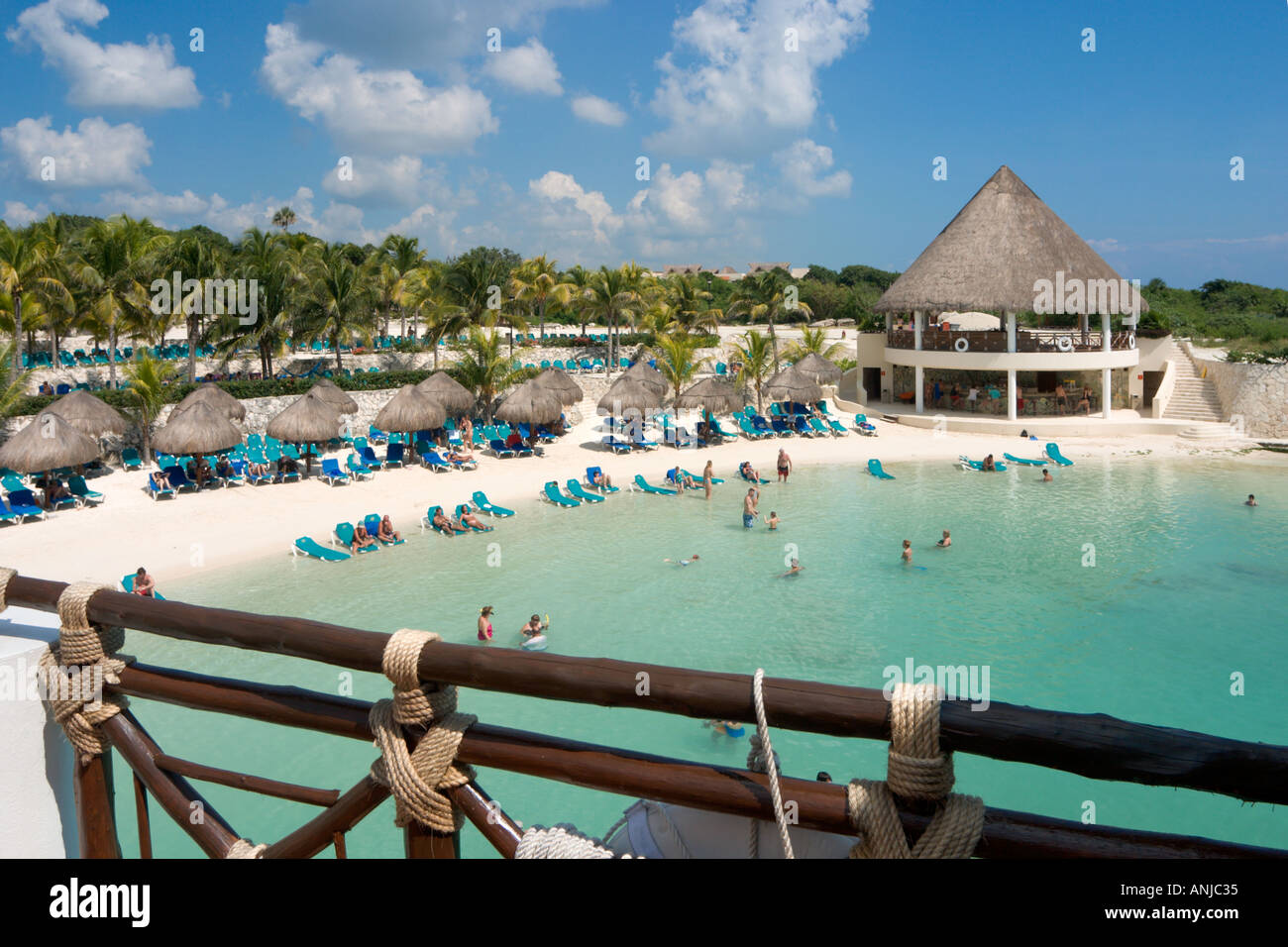 Beach At Hotel Occidental Flamenco Xcaret Riviera Maya Yucatan Peninsula Mexico