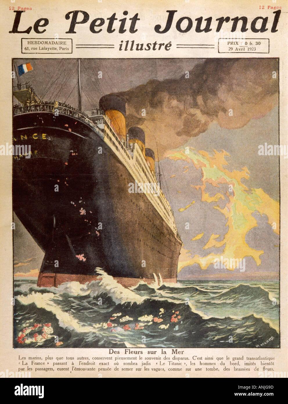 Titanic  France Tribute - Stock Image