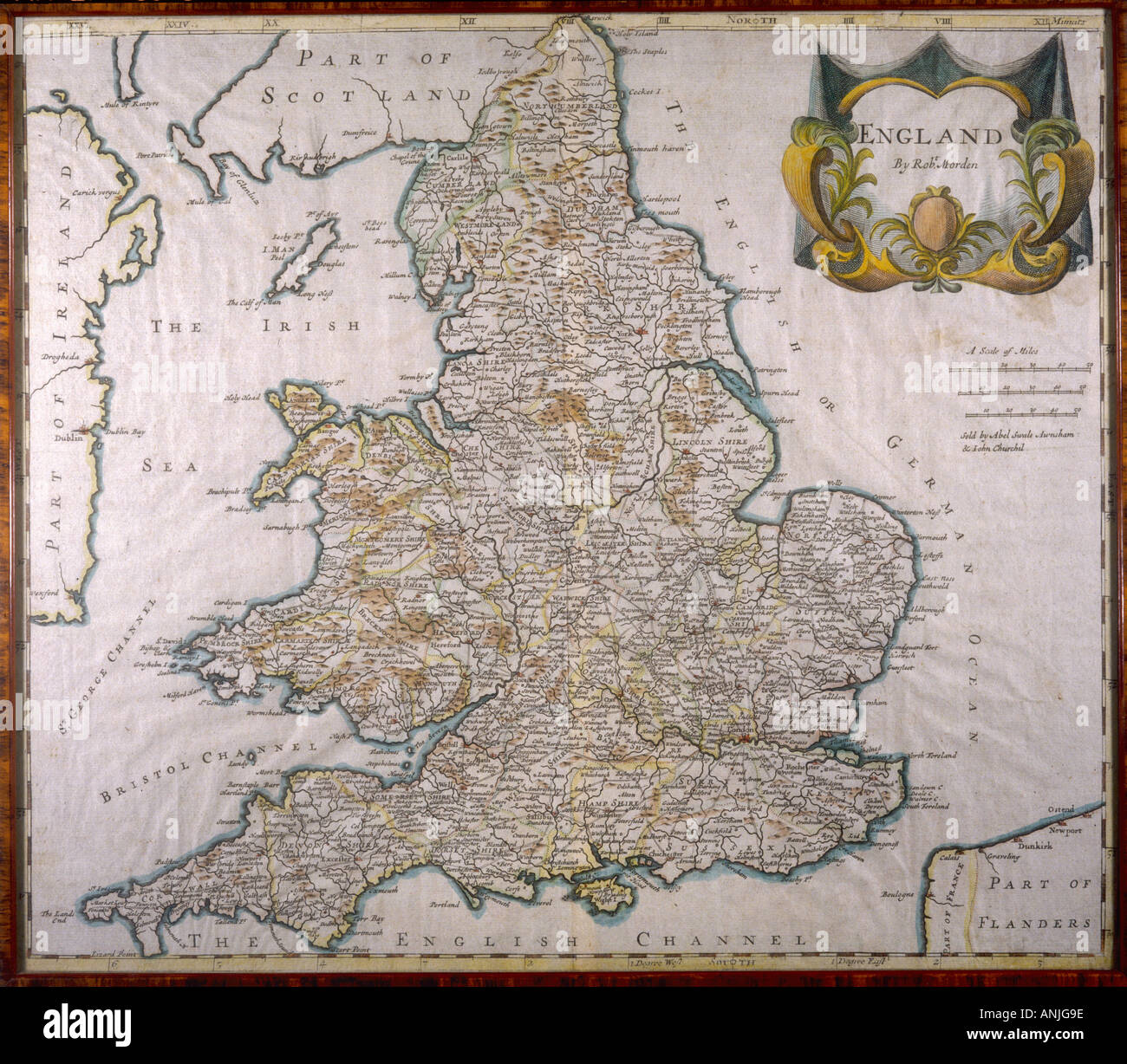 Map England Wales 1810 Stock Image