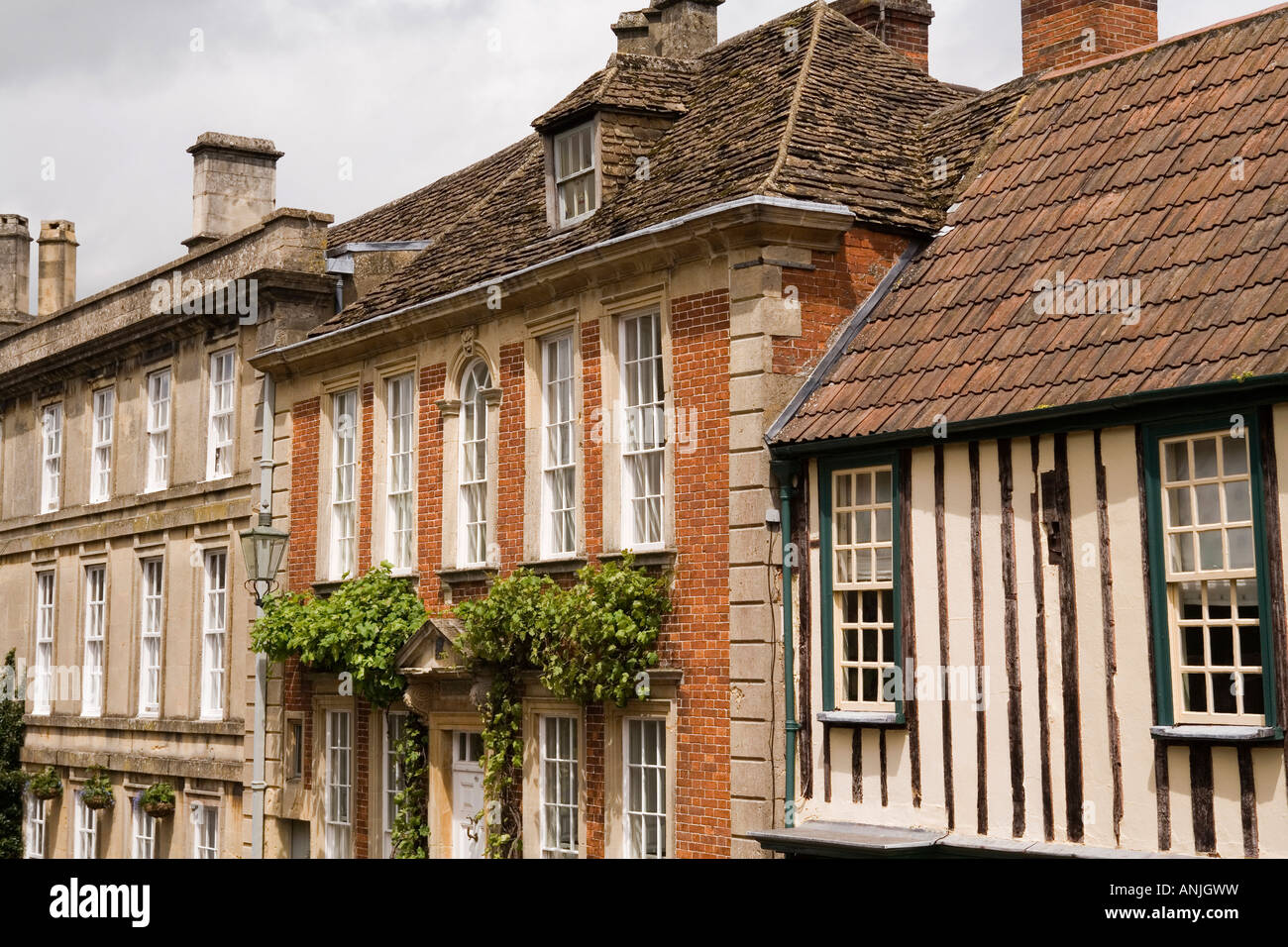 uk wiltshire chippenham st marys street historic houses in different