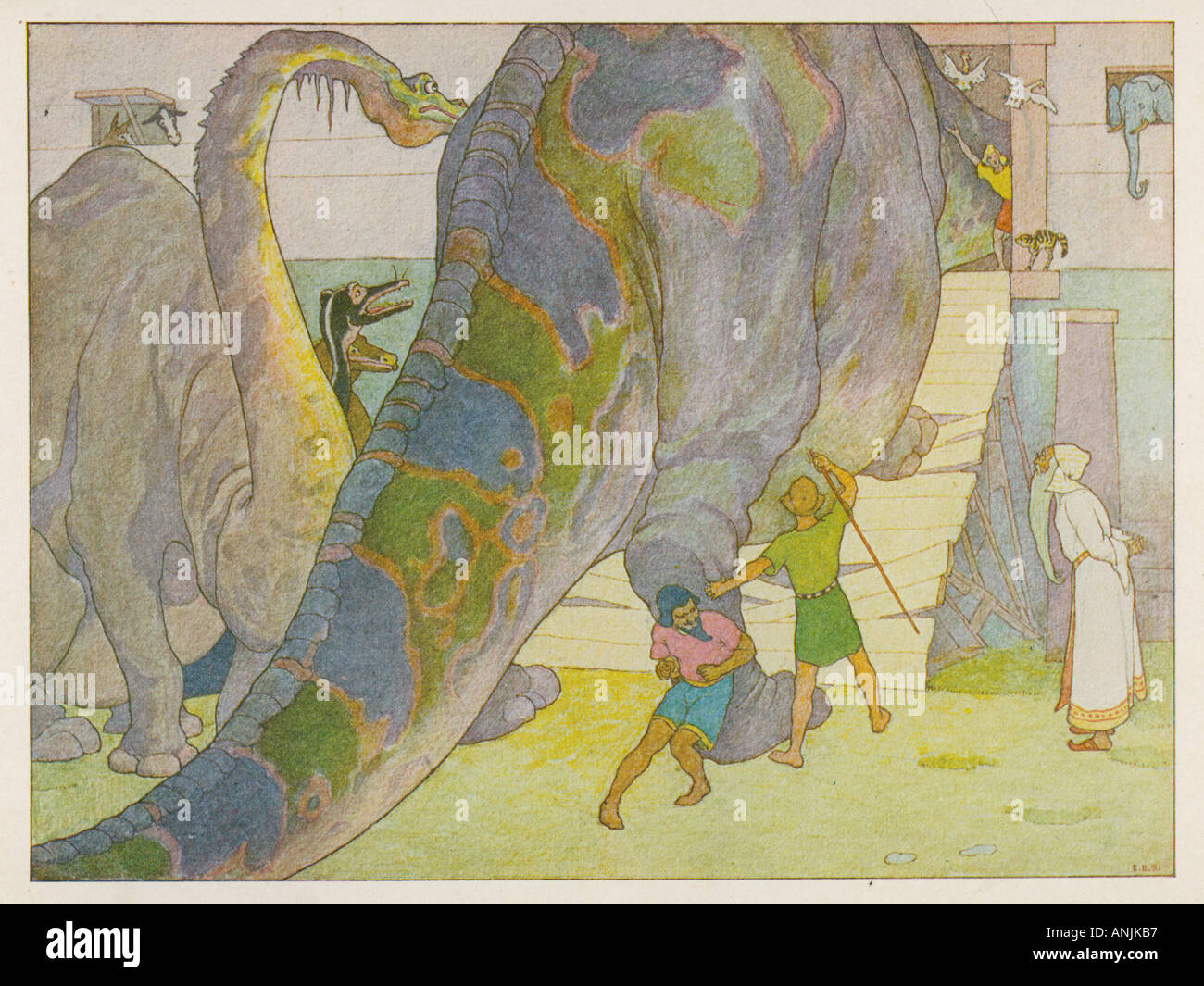 Dinosaurs Noahs Ark - Stock Image