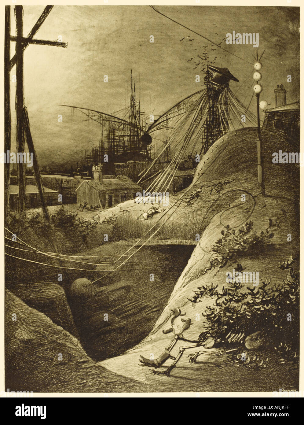 The War Of The Worlds - Stock Image