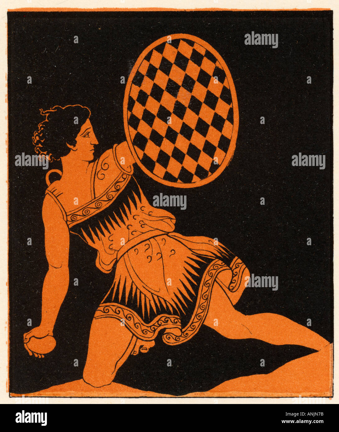 Ancient Greek Slinger - Stock Image