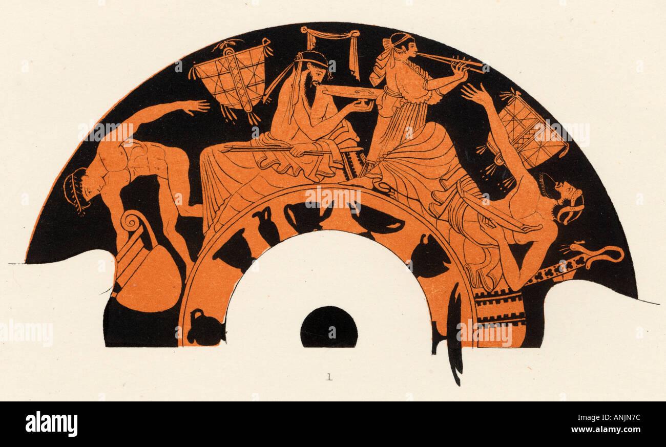 Ancient Greek Banquet - Stock Image