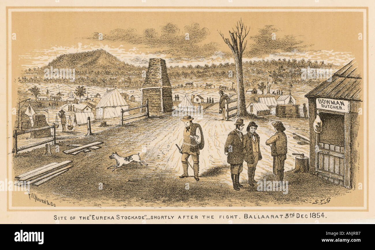 Site Of The Eureka Stockade - Stock Image