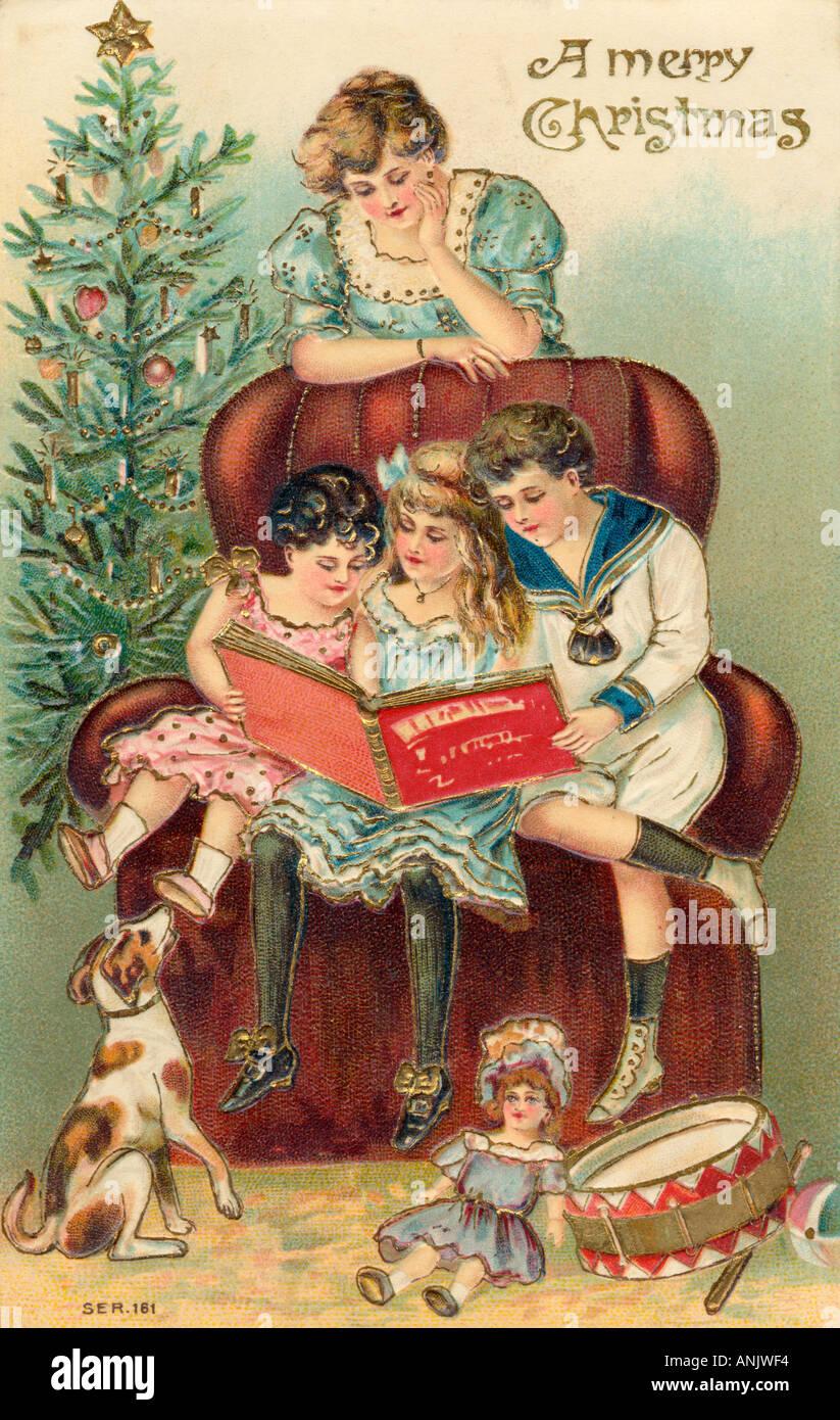 Enjoying Presents - Stock Image