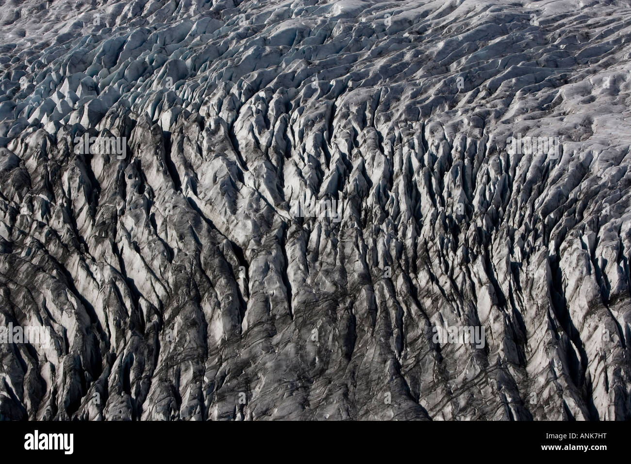 Aerial photo of glacier in Iceland - Stock Image