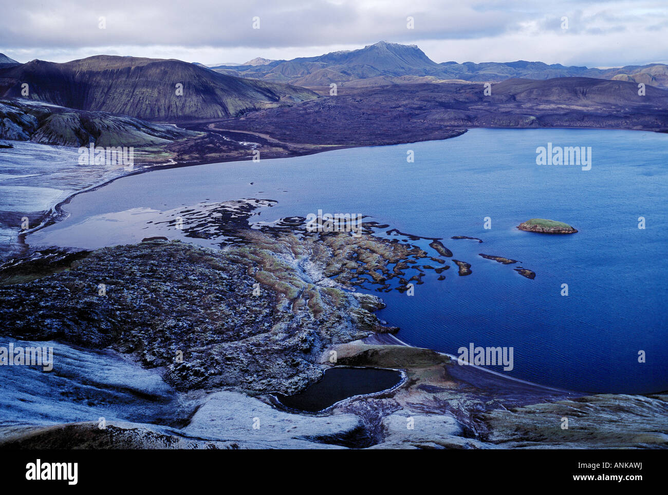 Aerial photo of Frostastadarvatn Iceland - Stock Image