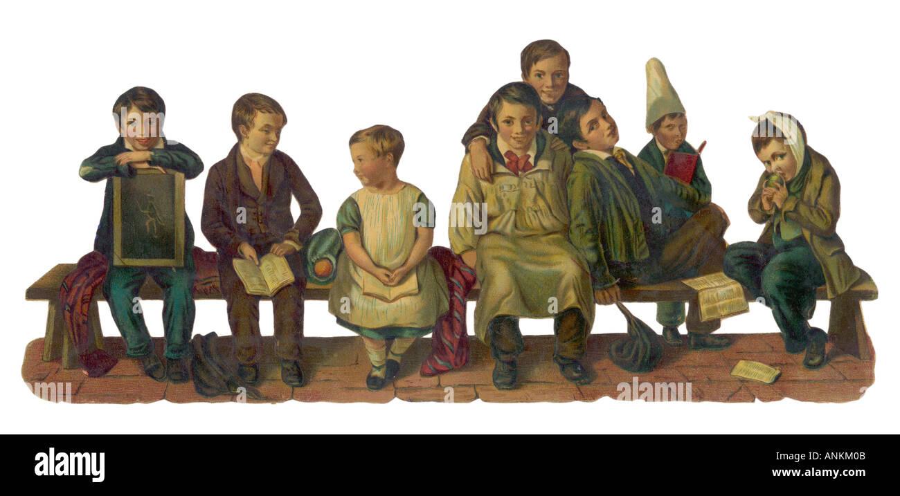Schoolchildren Scrap - Stock Image