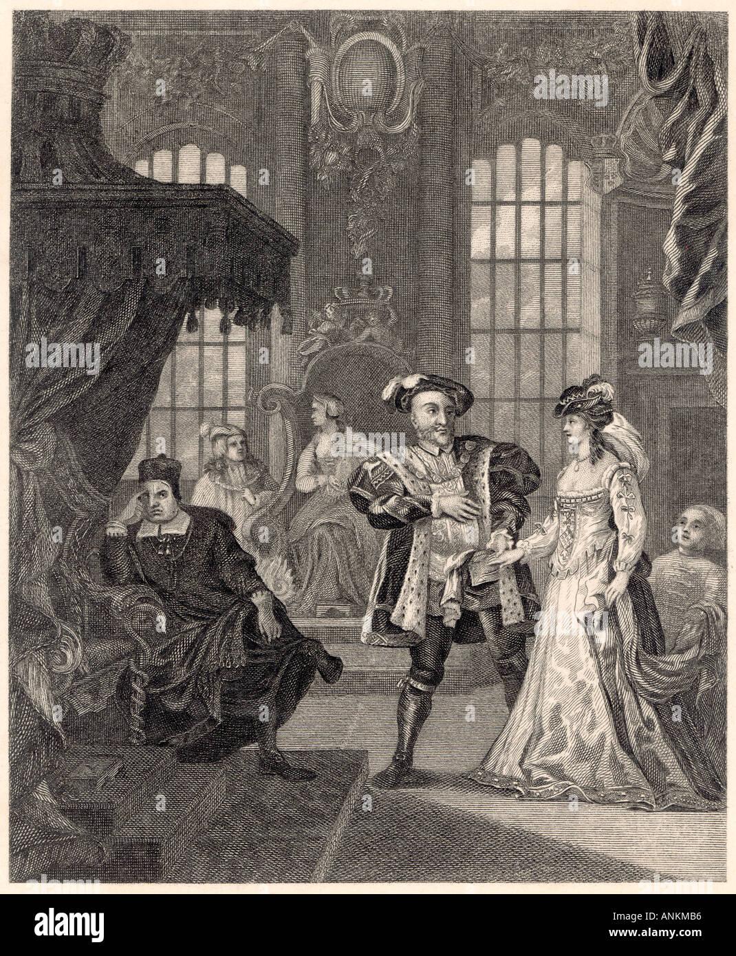 Henry Viii Anne Boleyn - Stock Image