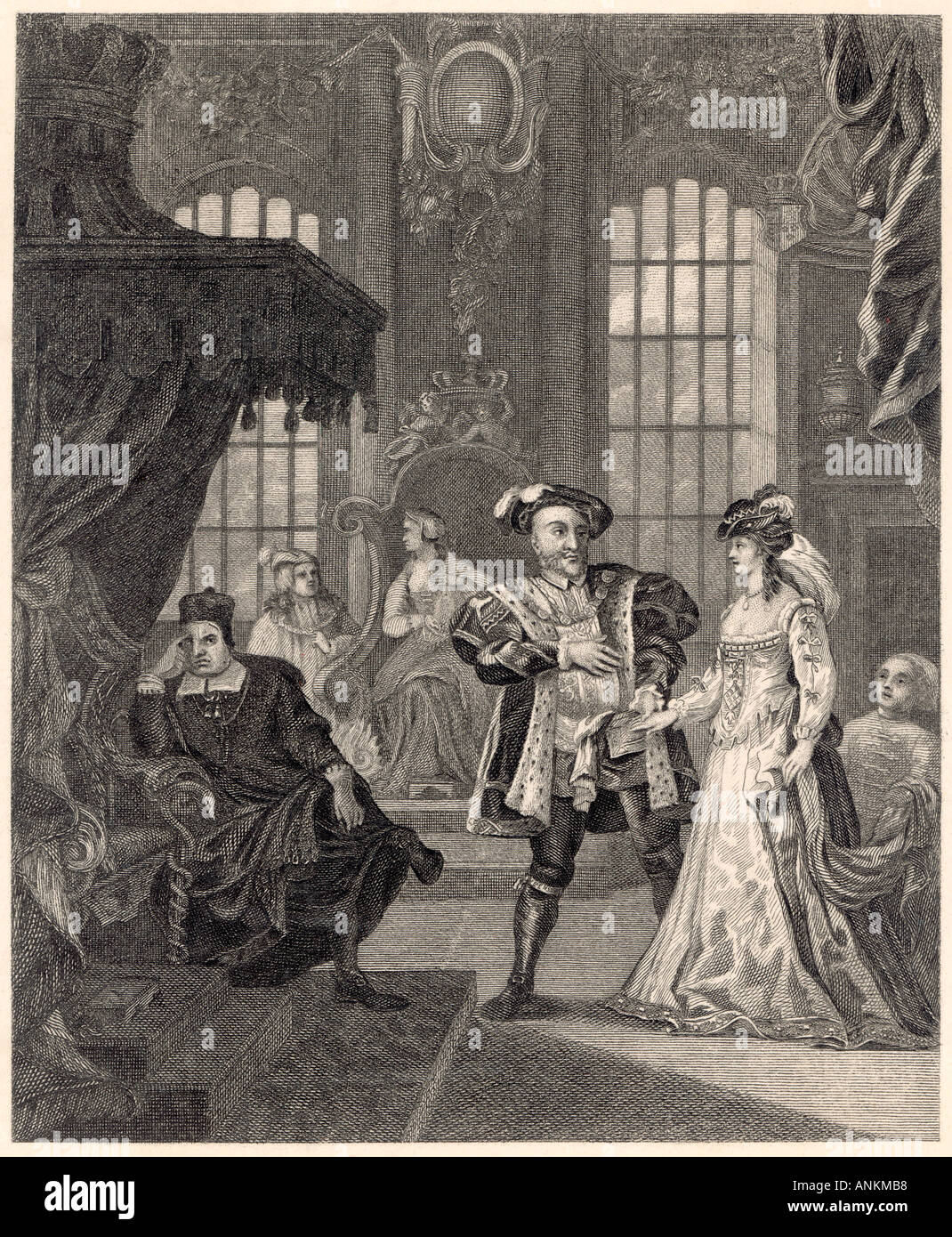 Anne Boleyn Henry Viii - Stock Image