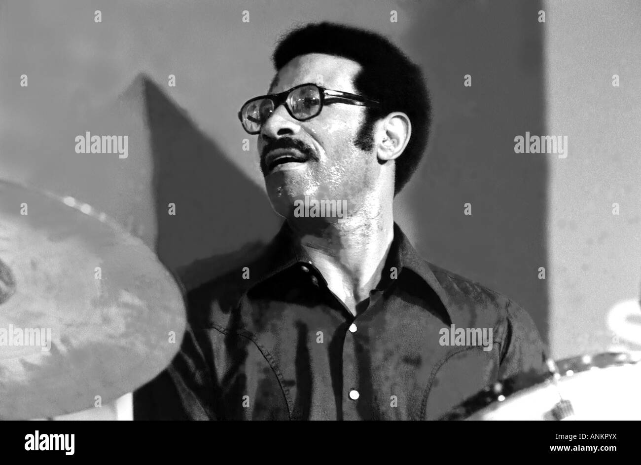 MaxRoach,drummer,percussionist,and composer,10 1.1924- 16.8. 2007 of world class. Devised new methd for playing - Stock Image