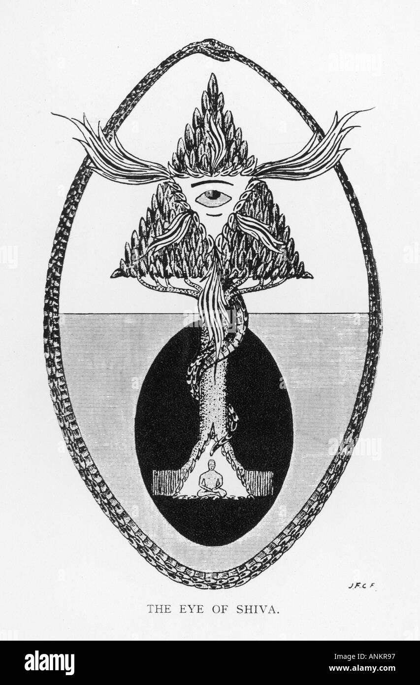 Eye Of Shiva - Stock Image