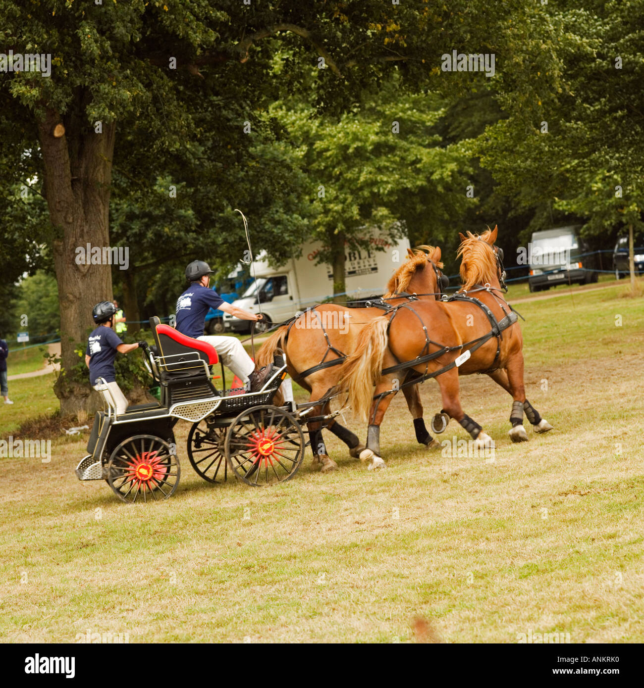 Hatfield Country Show. No model release required: movement blur, distance makes all unrecognizable - Stock Image