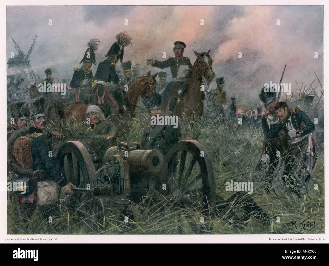 Battle Of Ligny Napoleon - Stock Image